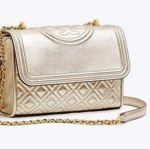 Tory Burch Metallic Leather Shoulder Bag